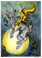 the Jackalope by Kiriska