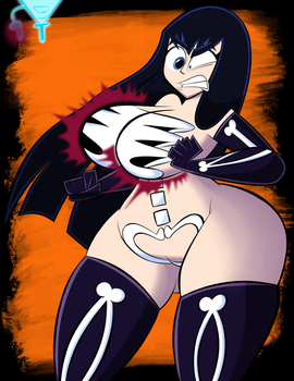 Halloween: Satsuki Breast Expansion Curse! by CK-Draws-Stuff