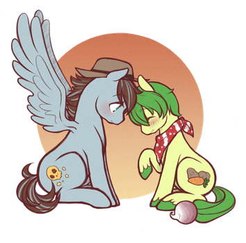 com: storm frost and turnip tail by DecemberDoe