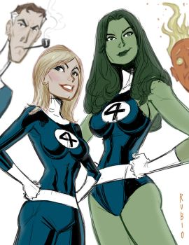 The Fantastic Four by BobbyRubio