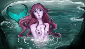 Mermaid in the water by Orilone