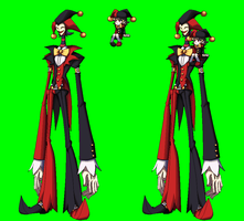 SkullGirls OC Jack and Jill sprite by ZeroSenPie