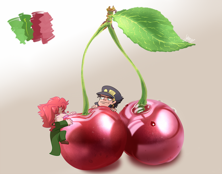 Painting Practice - 02 - Cherry Invader by YAMsgarden
