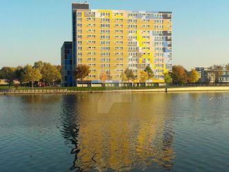 Waterfront reflection by Android-shooter