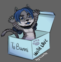 Gift box with Larimar by lizathehedgehog