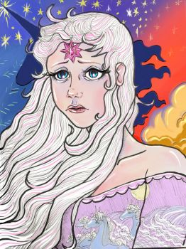 Lady Amalthea Last Unicorn by Kittycatjorjor