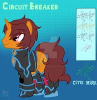 [Gift]Circuit Small Canon ref sheet by CreativeChibiGraphic