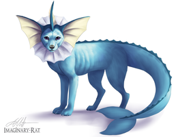 Eevee Week - Vaporeon by Imaginary-Rat