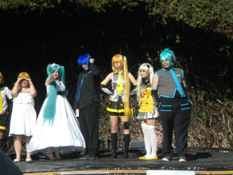 Vocaloid character line up - SacAnime 2012 - 1 by Megof05
