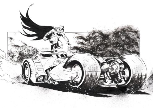 The Dark Knight [Pencil and ink on paper - A3] by LudoDRodriguez