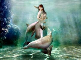Mermaid Princess dolphin real  bubbles by FueledbypartII