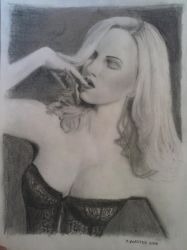 Ancilla Tilia Provocateur Corset drawing Complete by Rooivalk1