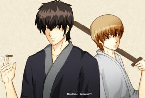 Gintama: Hijikata and Sougo by Doru-Hime