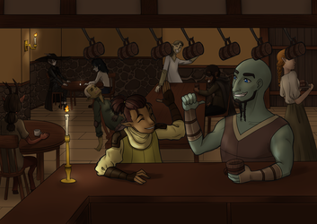 [Commission] Jolly Tavern in Aldemera by Shaakku