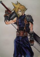 Cloud Strife by Zustitos