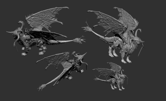 Draconis-4th form-FINAL FINAL-A by DigiDemonsculpture