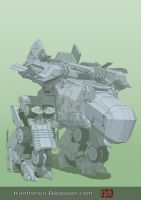 Concept Mecha WIP II by Kanthesis