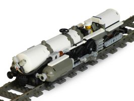 Racing Locomotive 'White Thunder' by RRaillery