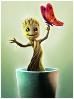 I am Groot - Guardians of the Galaxy by SpeedRain