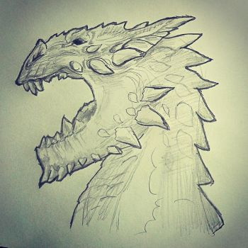 Smaug dragon pencil work by WowVital