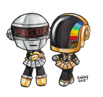 Sailor Daft Punk by SarahsPlushNStuff