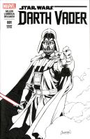 Vader Sketch Cover Commission by RedCole84
