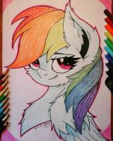 Rainbow Dash. Portrait by Kindny-Chan