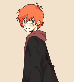 Ron Weasley But Animu by kamifoxart