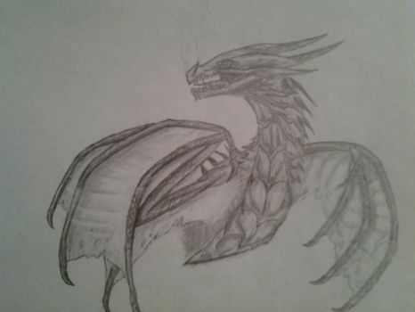 Skyrim dragon by Thedragonlover99