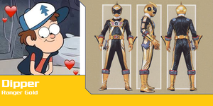 Dipper Pines as Ranger Gold (Toku Unlimited) by AdrenalineRush1996