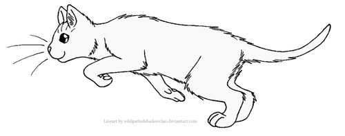 ThunderClan Lineart 2 by WildpathOfShadowClan