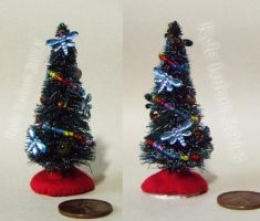 Small Miniature Blue Dragonfly Christmas Tree  by Kyle-Lefort