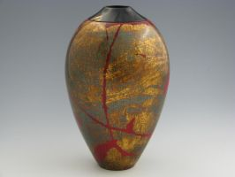 Gilded Red Hollow Form by handcraftedhumidors