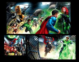 Justice League pages 3 by JPRart