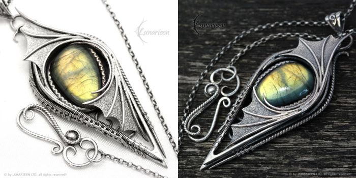 THENERYALL - Silver and Labradorite by LUNARIEEN