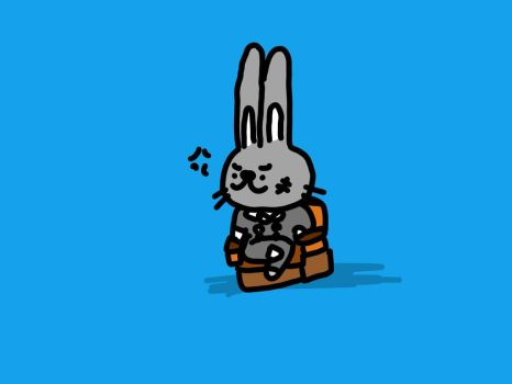 angry rabbit by kusaman