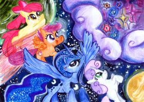 In Space... by CherryVioletS