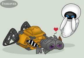 WALL-E's Kiss by Fishlover