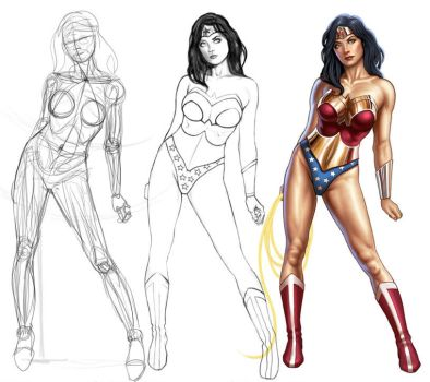 Wonder Woman Painting Tutorial by UdonCrew