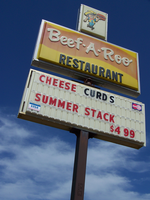 Beef-A-Roo sign, Iron River, MI 5/27/2014 1:58PM by Crigger