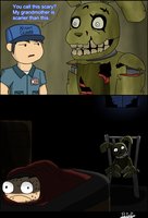 FnaF 4 Comic - Spooky Scary Trap by PeterPack
