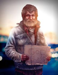 Hobo man by DevJohnson