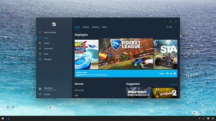Steam - Windows 10 Fluent Design System Concept by SamuDroid