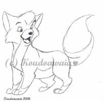 Tod  from  Fox and the Hound by KoudoawaiaVortex
