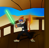 ArtTrade with DarkDivergent: Monferno L. Skywalker