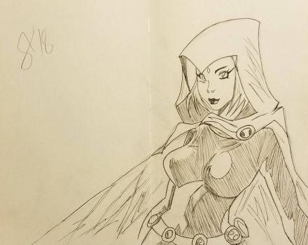 Raven inked by andyosu20