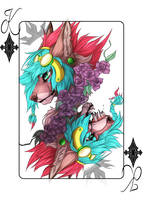 Finished YCH|Playing Card by PurpleSplash1372