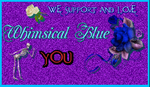 Whimsical Blue Support Stamp by Sugaree-33