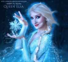 The Cold Never Bothered Me Anyway (Elsa of Frozen) by pinkishlabb