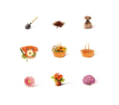 Flowers House icons by EroucT